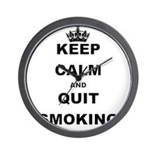 KEEP CALM AND QUIT SMOKING Wall Clock