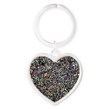 space Heart Keychain