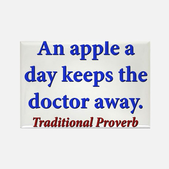 An Apple A Day - Traditional Rectangle Magnet