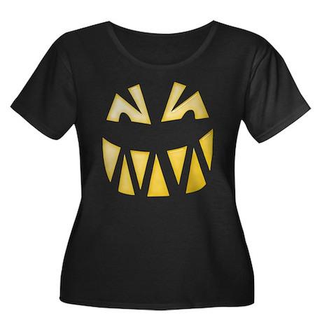 Halloween Pumpkin Face 10 Plus Size T-Shirt