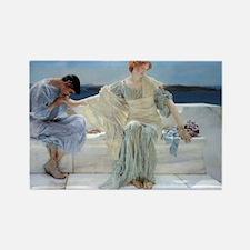 Alma Tadema Ask Me No More Rectangle Magnet