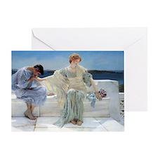 Alma Tadema Ask Me No More Greeting Card