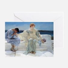 Alma Tadema Ask Me No More Greeting Card