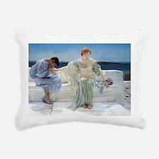 Alma Tadema Ask Me No Mo Rectangular Canvas Pillow