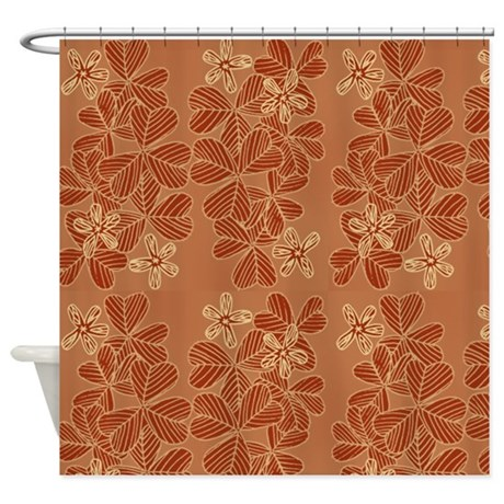 Modern Orange Flower Pattern Shower Curtain By MarloDeeDesignsShowerCurtains