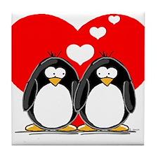 Loving Couple Tile Coaster
