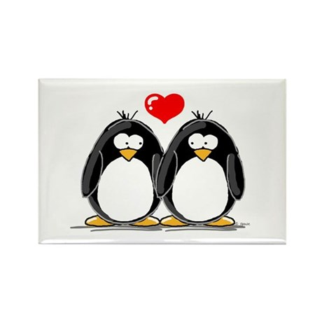 Love Penguins Rectangle Magnet (100 pack)
