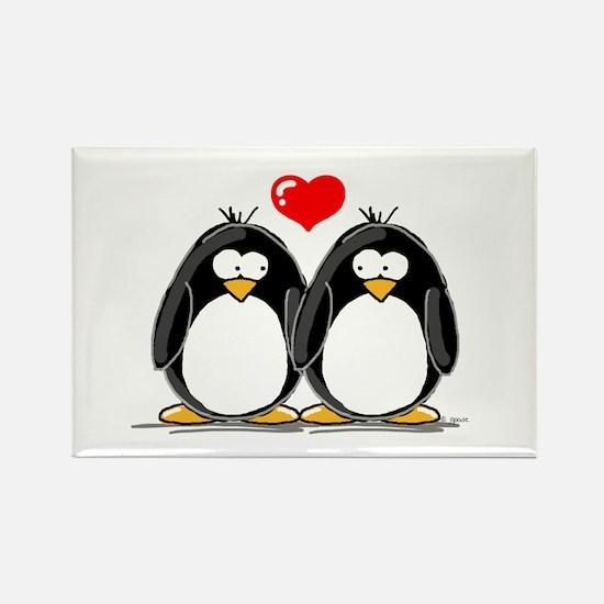 Love Penguins Rectangle Magnet