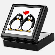 Love Penguins Keepsake Box