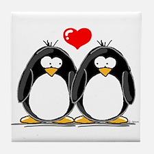 Love Penguins Tile Coaster