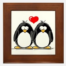 Love Penguins Framed Tile