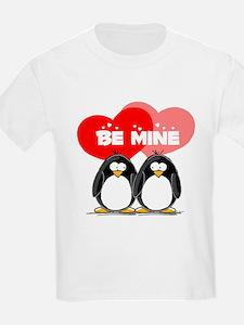 Be Mine Penguins Kids T-Shirt