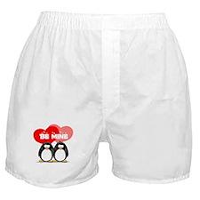 Be Mine Penguins Boxer Shorts