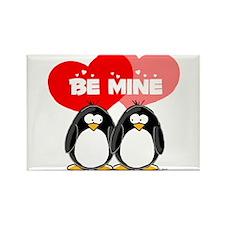 Be Mine Penguins Rectangle Magnet