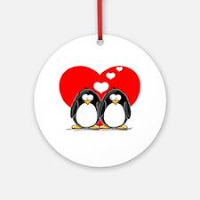 Loving Couple Ornament (Round)