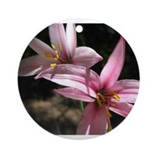Pink Lily Ornament (Round)