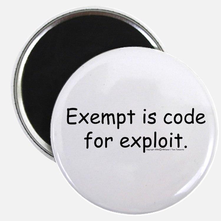 Cute Exempt Magnet