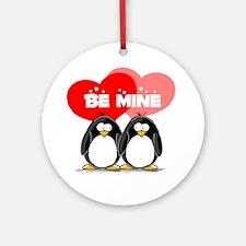 Be Mine Penguins Ornament (Round)