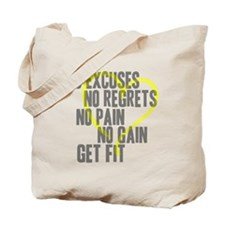 Heart Quotes Tote Bag