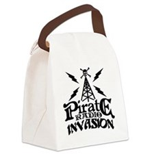Pirate Radio Invasion Canvas Lunch Bag
