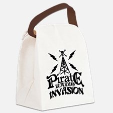 Pirate Radio Invasion Canvas Lunch Bag