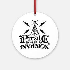 Pirate Radio Invasion Round Ornament