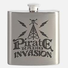 Pirate Radio Invasion Flask