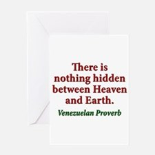 There Is Nothing Hidden - Venezuelan Greeting Card
