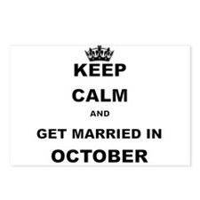 KEEP CALM AND GET MARRIED IN OCTOBER Postcards (Pa