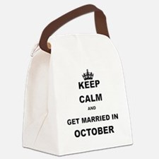 KEEP CALM AND GET MARRIED IN OCTOBER Canvas Lunch