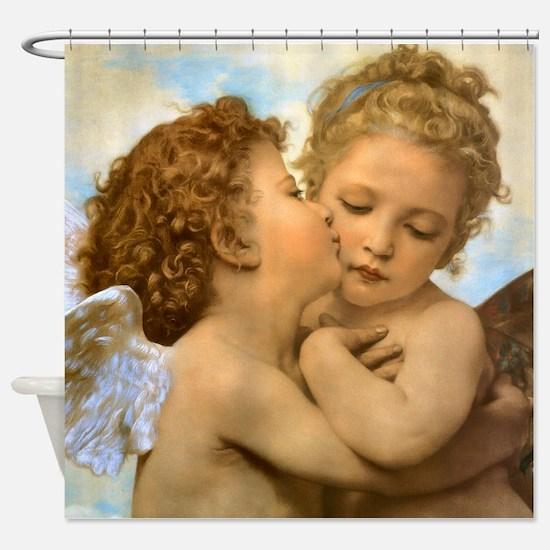 First Kiss by Bouguereau Shower Curtain