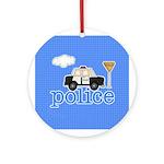 Police Keepsake Ornament (Round)