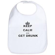 KEEP CALM AND GET DRUNK Bib