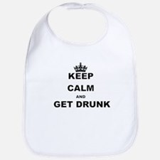 KEEP CALM AND GET DRUNK Bib