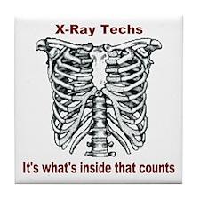 X-Ray Techs Inside Tile Coaster