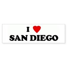 I Love SAN DIEGO Bumper Bumper Sticker
