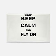 KEEP CALM AND FLY ON Magnets