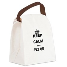 KEEP CALM AND FLY ON Canvas Lunch Bag