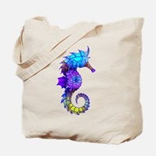 Splashy Seahorse Tote Bag