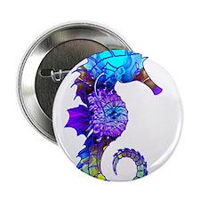 """Splashy Seahorse 2.25"""" Button"""