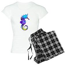Splashy Seahorse Pajamas