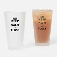 KEEP CALM AND FLOSS Drinking Glass