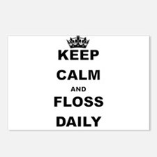 KEEP CALM AND FLOSS DAILY Postcards (Package of 8)