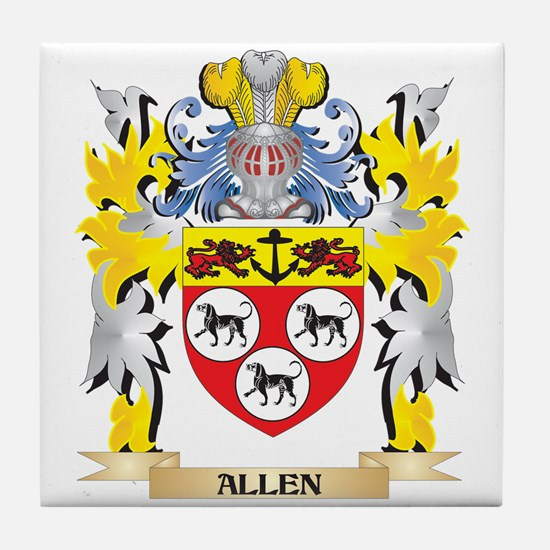Allen Coat of Arms - Family Crest Tile Coaster