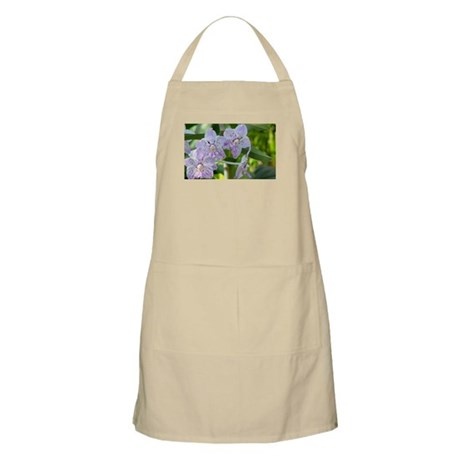 Purple Spotted Orchids BBQ Apron