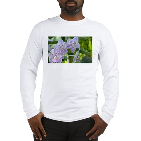 Purple Spotted Orchids Long Sleeve T-Shirt