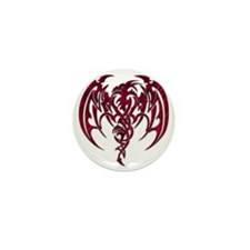 Tribal Dragon Mini Button