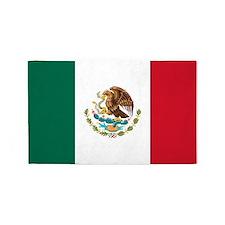 Mexican Flag 3'x5' Area Rug