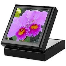 Lavender Orchids Keepsake Box