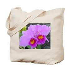 Lavender Orchids Tote Bag